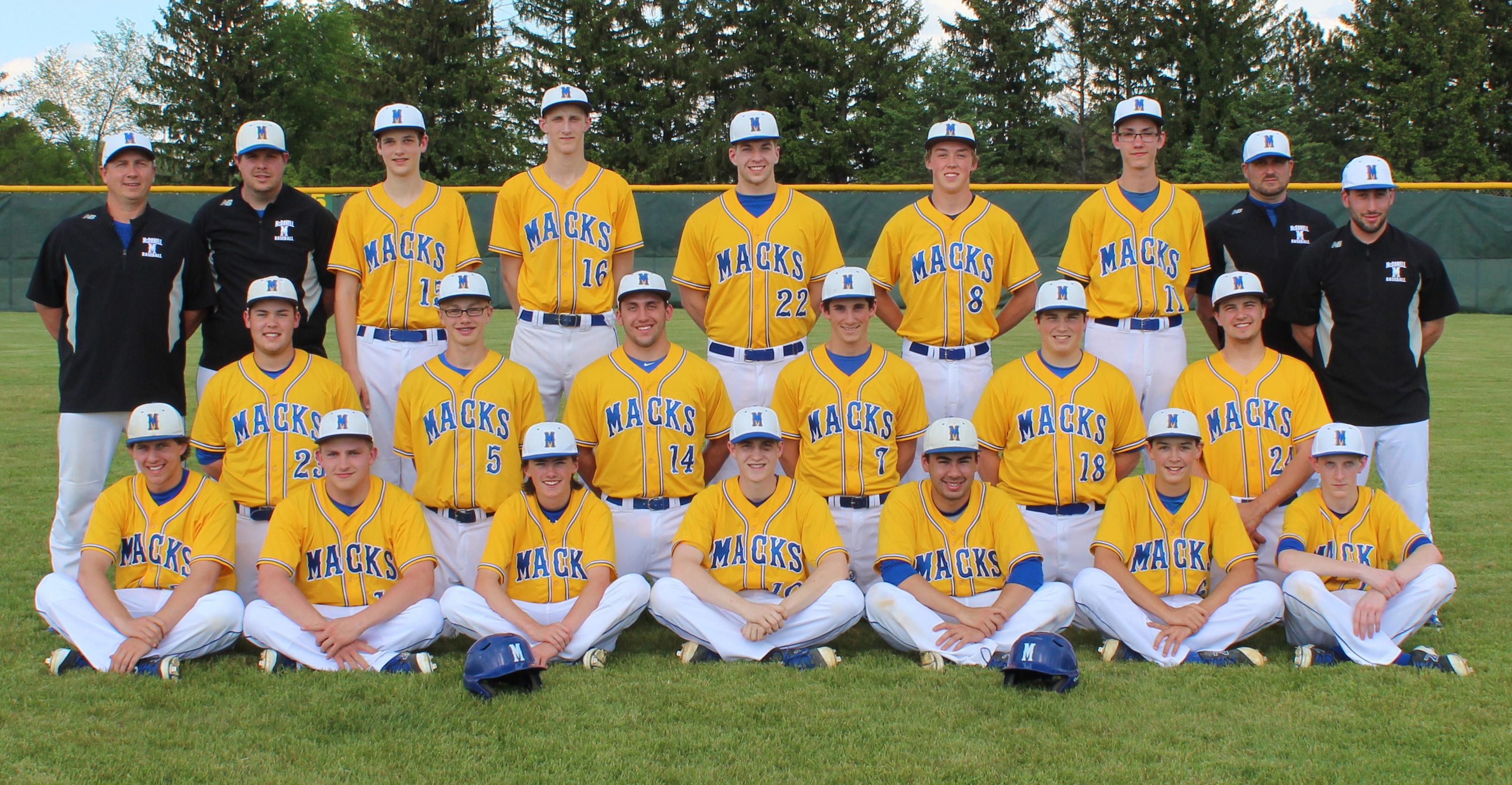 Varsity Baseball Team 2017