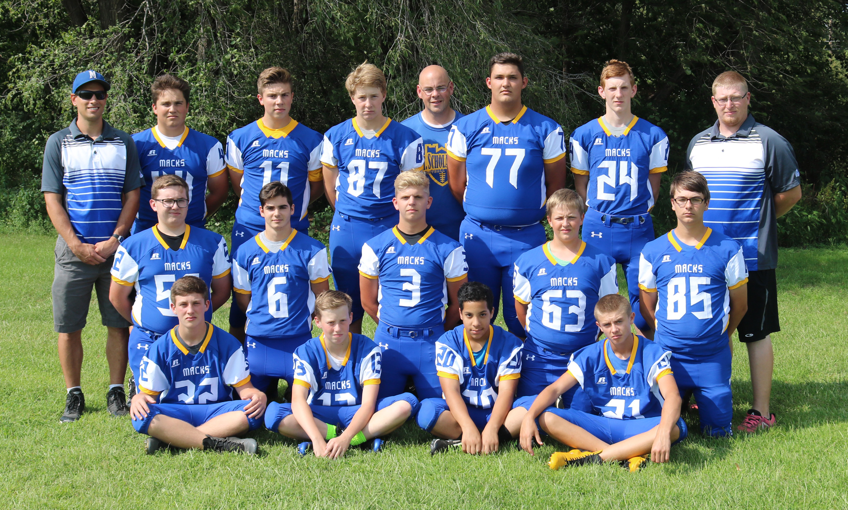 McDonell Football Team 2018
